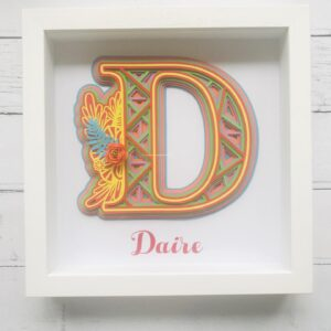 Personalised Rainbow Initial Frame