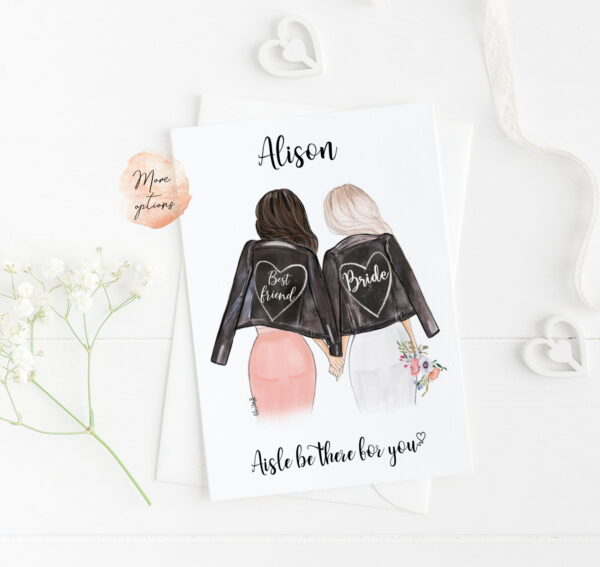 card for bride on wedding day