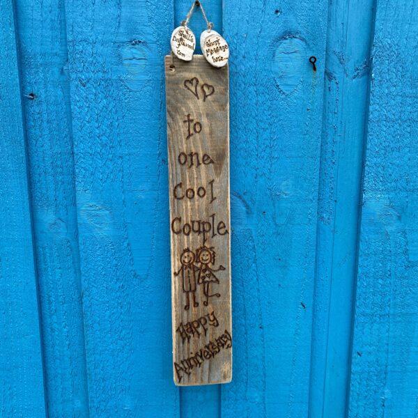 personalised anniversary plaque