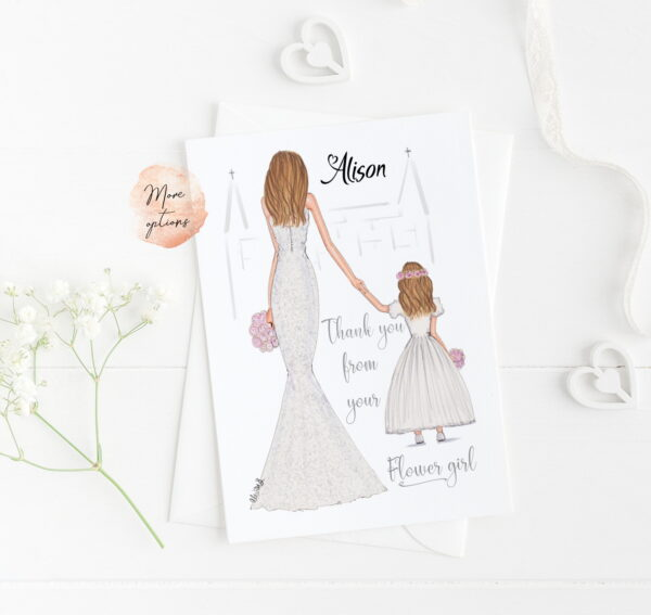 Thank You To Bride From Flowergirl