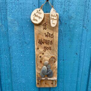 personalised pebble art