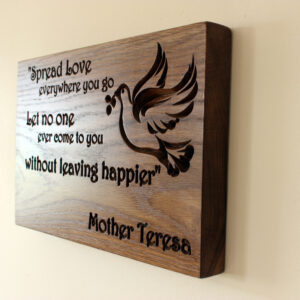 personalised wooden wall plaque