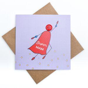 super mam greeting card
