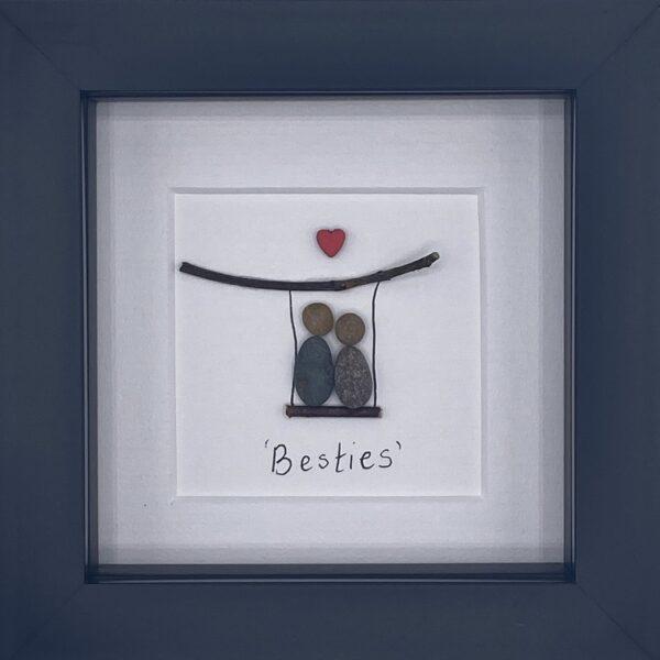 besties pebble art