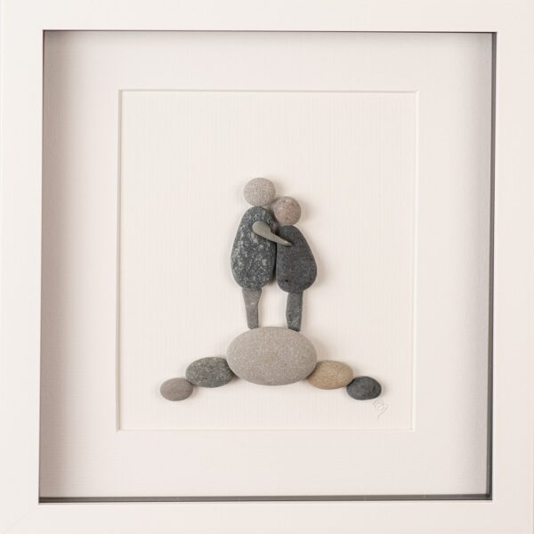embrace pebble art