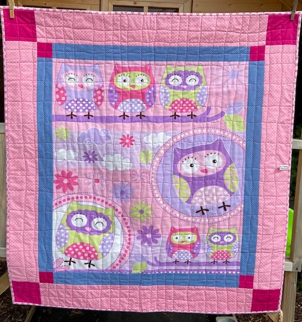 owl patchwork quilt