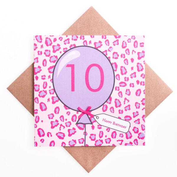 10th birthday animal card