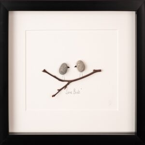 love birds pebble art