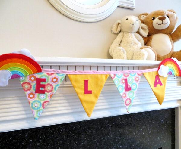 Personalised Rainbow bunting