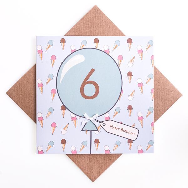 6th Birthday Icecream Card