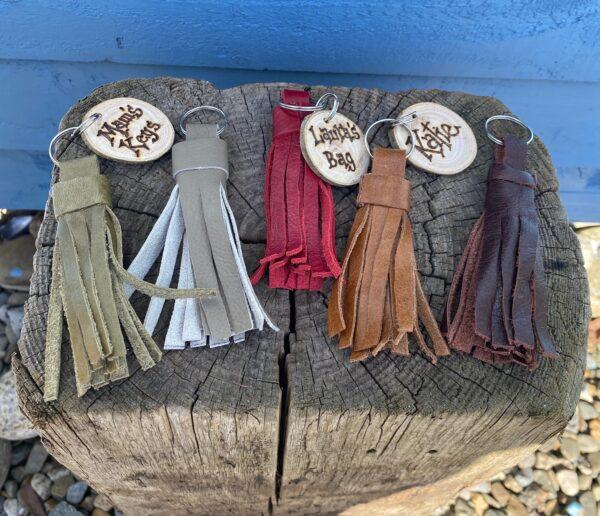 personalised leather keyrings