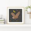owl and moon print