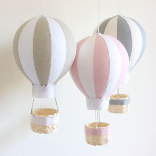 personalised hot air balloon nursery decor