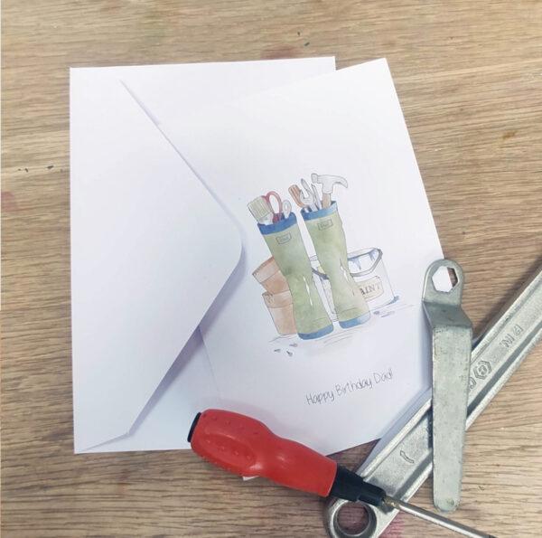wwelly birthday card for dad