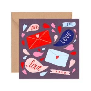 xoxo greeting card