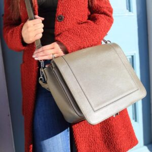 personalised leather bag