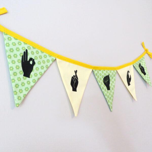 Personalised Irish Sign Language Bunting